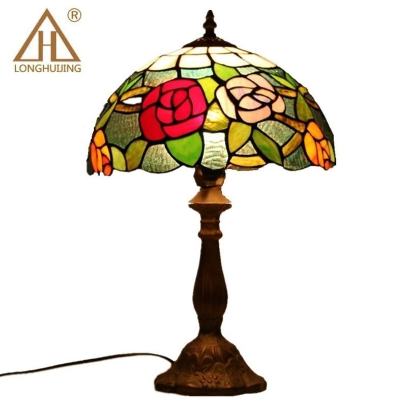 Tiffany Table Lamp E27 Baroque Bedroom Bedside Lamp Creative Fashion Retro Table Lamp|LED Table Lamps| |  - title=