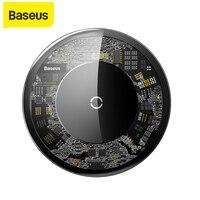 Baseus-cargador inalámbrico Qi para móvil, almohadilla de carga inalámbrica 3,0 de 10W para iPhone X/XS Max XR 8 Plus, Samsung S9 S10 + Note 9 8