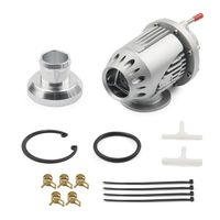 New Universal SQV SSQV BOV Super SQV4 Sequential Turbo Blow Off Valve Silvery with Adapter Flange IV 4 SILVER|Turbocharger|   -