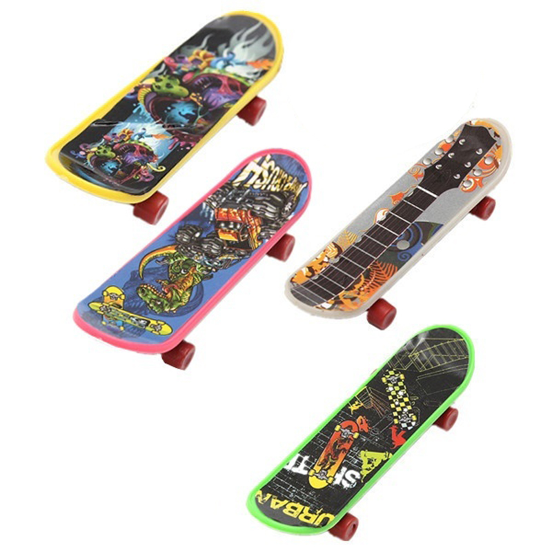Mini 4 Pack Finger Board Tech Deck Truck Skateboard Toy Gift Kids Children Gift 95mm