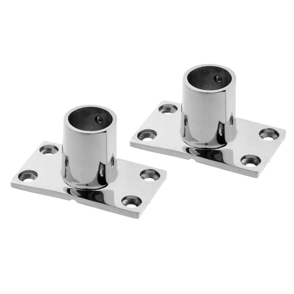 2pcs 25mm//1/'/' Stainless Steel 90 Degree Boat Handrail Stanchion Base Fitting