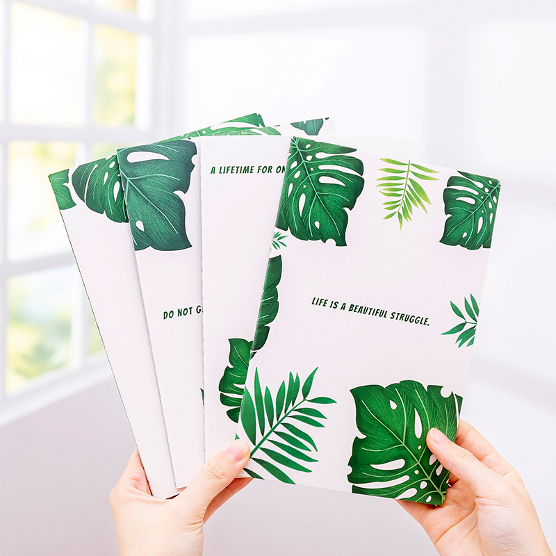 1PCS Zhishun Simple Creative Plantain Leaf A5 Notebook Students Notebook Diary Soft Surface Copy Car Line