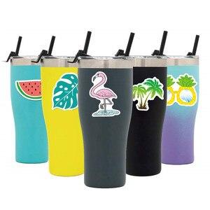 Image 3 - Pegatinas de vinilo estéticas para coche, paquete de pegatinas calcomanías de flamencos para ordenador portátil, Ipad, equipaje, botella de agua, casco, camión, 5 uds.