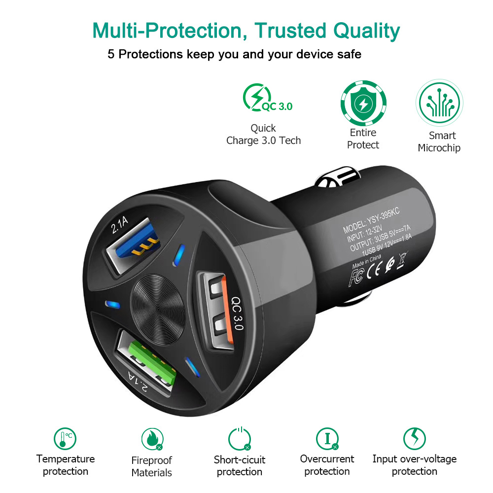 Image 4 - Universal Dual USB Car Charger 5V 3.1A Mini Charger Fast Charging With LED for Mobile Phone Smart phone Xiaomi Samsung iPhone X-in Car Chargers from Cellphones & Telecommunications