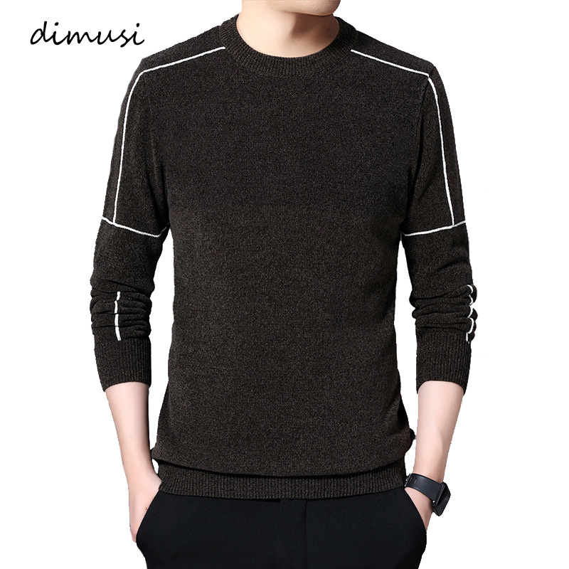 DIMUSI Autumn Winter Men'ss Sweater Casual Men Turtleneck Solid Color Sweater Men's Slim Fit Knitted Pullovers Clothing 4XL