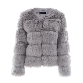 2020 winter fashion women fox fur like man made fur coat girl warm outer clothing image