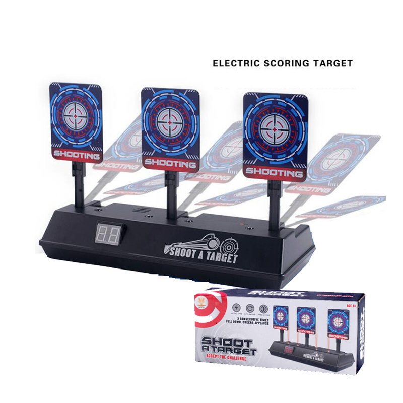 DIY High Precision Scoring Auto Reset Electric Target For Nerf Gun Toys For Blaster Gel Beads Blaster Gun Toy Parts