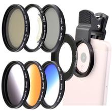 KnightX 유니버설 핸드폰 액세서리 52MM 매크로 렌즈 스타 4 6 8 라인 렌즈 전화 카메라 필터 모바일 안드로이드