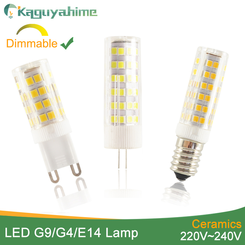 Kaguyahime LED G9 Light G4 Ceramic Dimmable Mini E14 Bulb Led Lamp AC 220V 12V LED Bulb G9 3W 5W 6W 7W 9W 10W 12W Spotlight
