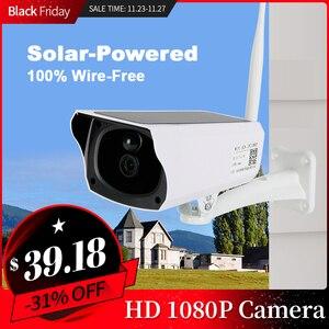 Cámara Solar inalámbrica con Panel Solar, Wifi, PIR IP66, impermeable, CCTV, para exteriores, Buiten, Wifi