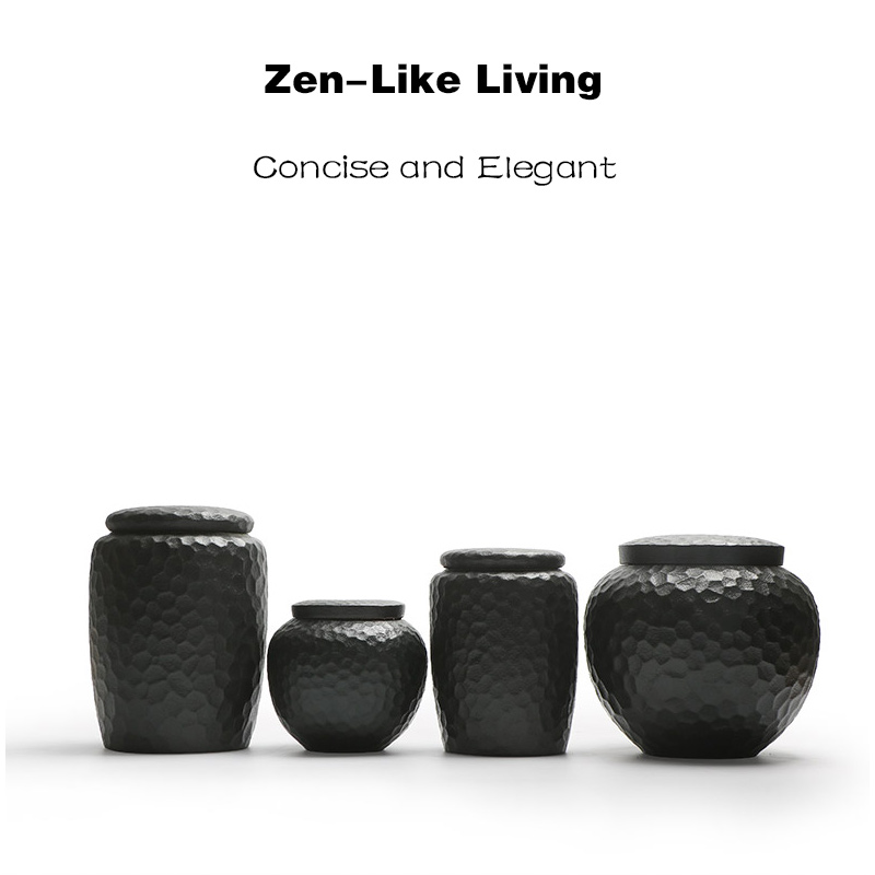 Pet Ashes Urn Pottery Funeral Urns Human Cremate Ash Holder Burial At Home In Niche Columbarium Zen-Like Living Style Memorial