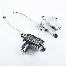 Хром тормозной цилиндр сцепления Рычаги набор для Suzuki Intruder 800 1400 1500