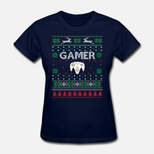 Men t shirt Gamer Ugly Christmas Sweater Women tshirts(China)