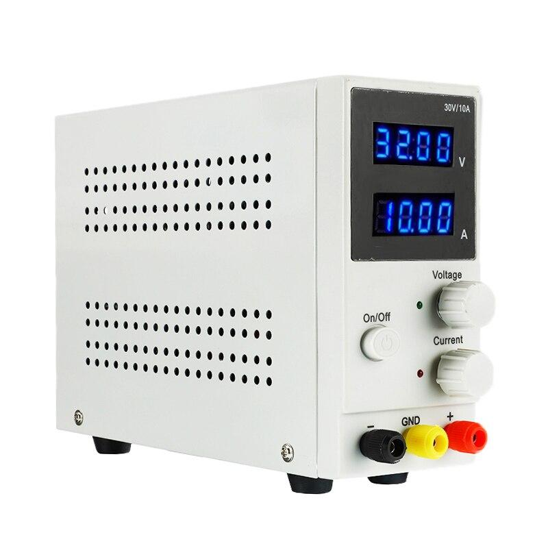Nouveau 30V 10A laboratoire réglable commutation régulateur LED affichage DC alimentation ordinateur portable téléphone réparation reprise 110 V-220 V