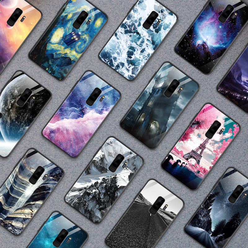 Phone <font><b>Case</b></font> for <font><b>OnePlus</b></font> 3 3T 5 5T 6 <font><b>6T</b></font> 7 7 Pro Back Tempered Glass Cover for Samsung Galaxy S9 S8 S10 Plus TPU Shockproof Shell image