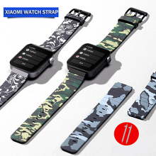 Camouflage strap for For Xiaomi Smart Watch Rubber Wrist Strap Mi Silicone Bracelet Replacement Accessories