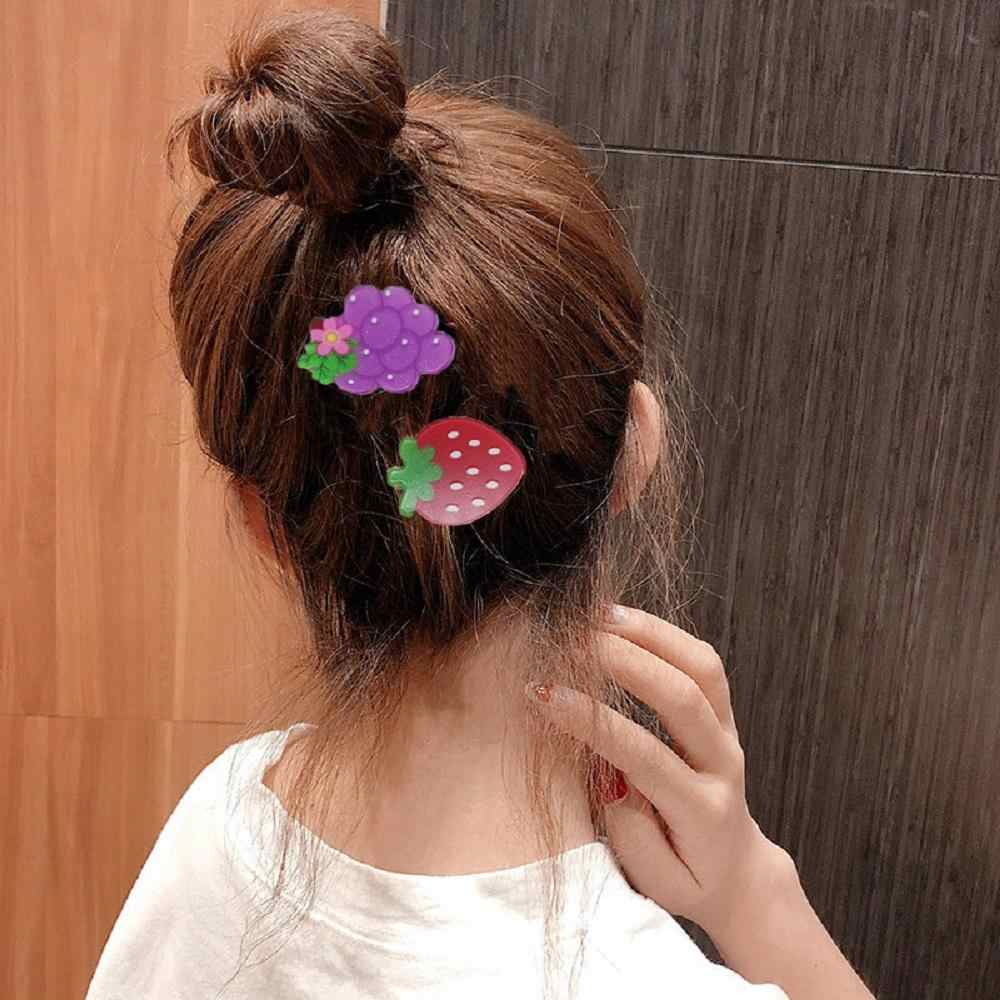 Cute Lovely Sweet Girl Kids Retro Vintage Pink Bow Cherry Hair Clip Hairpin PVCA