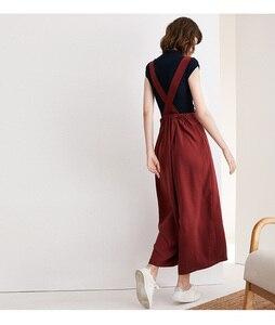 Image 2 - Nuova cinghia di stile delle donne allentate pantaloni casual versione Coreana delle donne di spettacolo cinghia sottile pantaloni staccabili