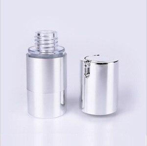 Image 5 - Botella de loción de bomba de vacío sin aire de plata UV de 50 ml con bomba de plata y base inferior utilizada para envase cosmético