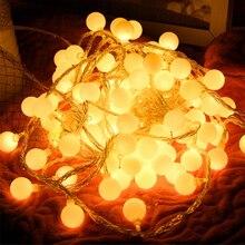 Thrisdar 10M 20M 30M 50M Christmas String Light Cherry Balls Fairy Light String Garland