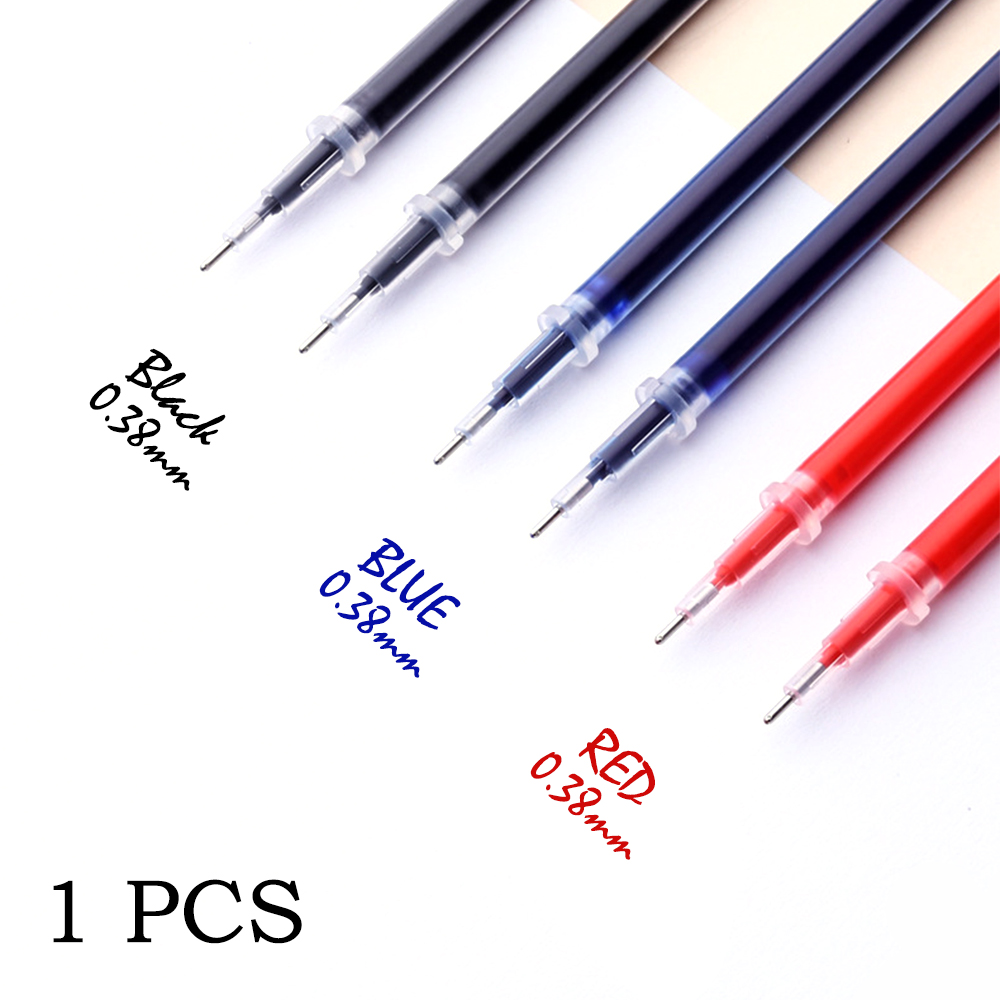 0.38mm 1pcs/bag Gel Pen Refill Office Signature Rods Red Blue Black Ink Refill Office School Stationery Writing Supplies