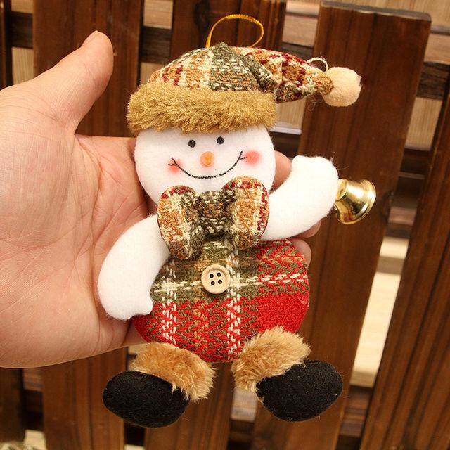 New Year 2020 Cute Santa Claus/Snowman/Angel Christmas Dolls Noel Christmas Tree Decoration for Home Xmas Navidad 2019 Kids Gift 28