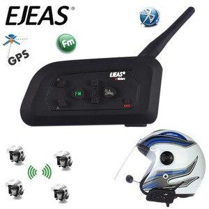 Image 1 - Intercomunicador Bluetooth V4 Pro BT impermeable, auriculares para motocicleta, casco, comunicador, 4 conductores, 1200M