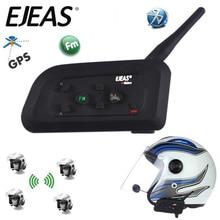Nouveau 1200M V4 Pro BT Multi Interphone Bluetooth Interphone étanche FM moto casque casque communicateur 4 coureurs