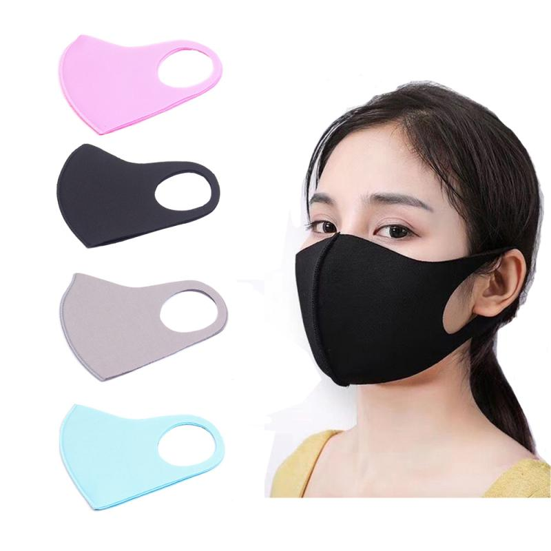Black Mouth Mask Anti Dust Mask Activated Carbon Filter Windproof Mouth-muffle Bacteria Proof Flu Face Masks Care For Adult