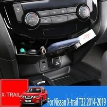 Для Nissan X-trail X trail T32- Автомобильная центральная консоль коробка для хранения автомобиля внутренняя модификация ABS декоративная коробка для хранения