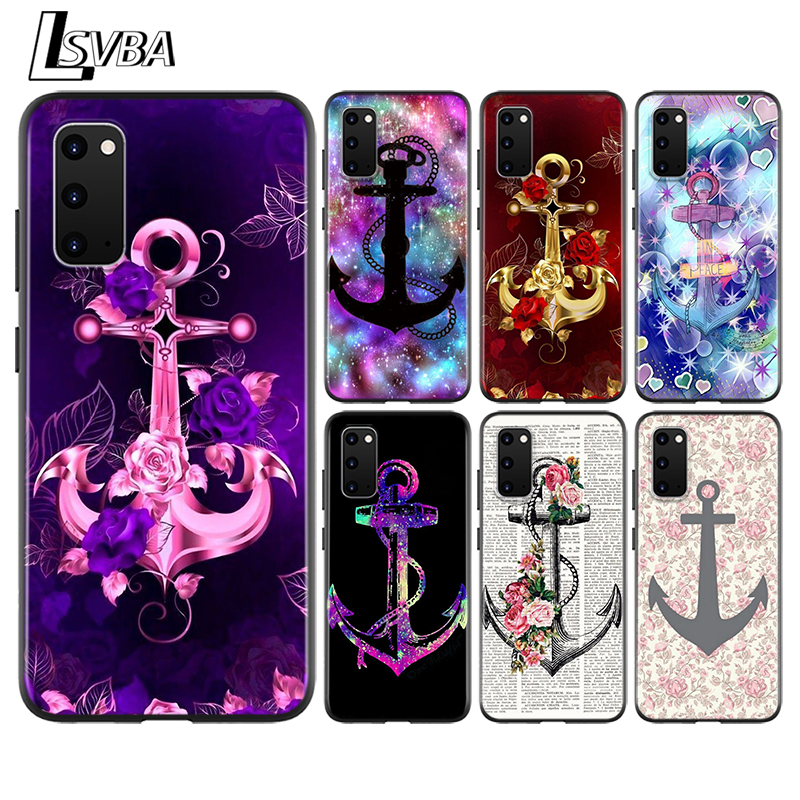 Sea stripes anchor Anti-Fall Back Cover For <font><b>Samsung</b></font> Galaxy S20 Ultra Plus A01 A11 A21 A31 A41 A51 A71 A91 Phone <font><b>Case</b></font> image