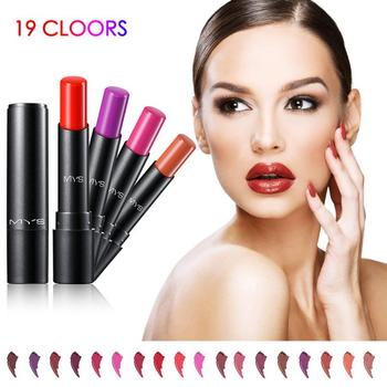 MYS Matte Lipstick Long Lasting Light Color Natural Lip Makeup Cosmetic Waterproof Easy To Carry Lip Gloss TSLM1 недорого