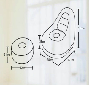 Image 5 - 屋外インフレータブルソファ屋内用小型ソファ怠惰なソファチェア群がっスツールシングルソファベッドラウンジチェア