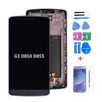 100% Origineel Voor LG G3 LCD D850 D851 D855 Lcd-scherm met Touch Screen Digitizer Vergadering Met Frame gratis verzending