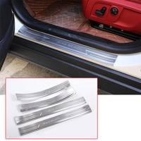 For Maserati Levante 2016 2019 Car Door Sill Strip Scuff Plates Protector Cover Trim Stainless Steel Auto Accessories With logo