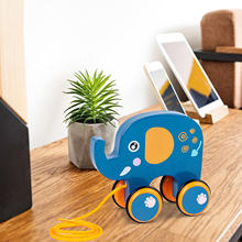 Toy Drag Baby Girls Children Wood 2-Styles Pull Puppies Playful-Smooth Car-Boys Walking-Hand