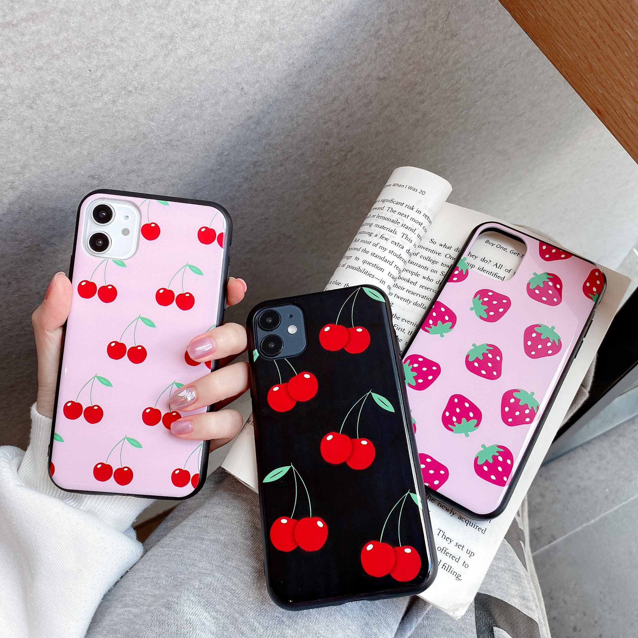 Starktni Popular Black Cherry Strawberry Classic WF iamhalsey Phone Case For iphone 11 11PROMAX XR 6 8 7Plus X XS MAX Hard Cover