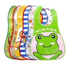Cartoon Baby Bibs Waterproof Newborn Bandanas Feeding Baby Burp Cloths Girls Boys Saliva Towel Print Apron
