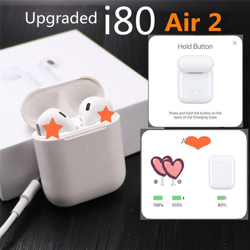 Mini I80 tws Earbud In-Ear Wireless Earphone Sport Bluetooth Stereo Headset For iPhone Samsung D20