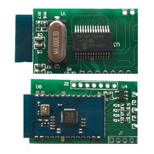 ELM327 Bluetooth V1.5 PIC18F25K80 ELM327 OBD2 Scanner ELM 327 Bluetooth Android/PC ELM 327 OBD2 Bluetooth Adapter ELM327 V1.5 6