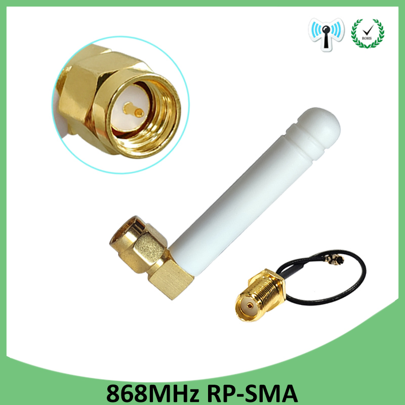 868MHz 915MHz Antenna 2dbi SMA Male Connector GSM 915 MHz 868 MHz Antena Antenne Waterproof + 21cm RP-SMA/u.FL Pigtail Cable