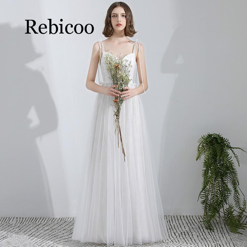 2019 nouveau super fée col en v blanc cravate noeud papillon ceinture longueur de plancher simple sangle minceur robe