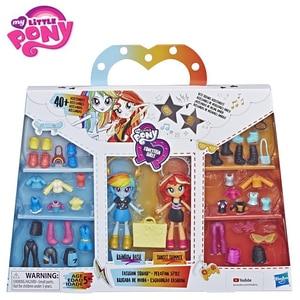 Image 3 - ต้นฉบับMy Little Ponyตุ๊กตาแฟชั่นที่ดีที่สุดเพื่อนRainbow Sunsetรุ่นตัวเลขการกระทำของเล่นเด็กวันเกิดของขวัญBonecas