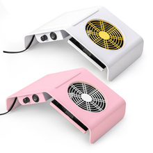 80W Nail Suction Dust Collector Strong Adjustable Speed Nail Manicure Vacuum Cleaner Nail Dust Fan Tool Vacuum Suction