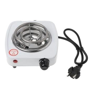Estufa eléctrica de 220V y 500W, quemador de placa caliente de hierro para cocina, calentador de café para el hogar, electrodomésticos de cocina con enchufe europeo 1