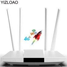 YIZLOAO 4G LTE CPE/routeur 300Mbps passerelle routeur Wifi débloqué 4G LTE FDD TDD RJ45 Ports Ethernet et emplacement pour carte Sim jusqu'à 32 utilisateurs