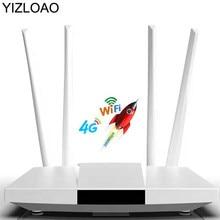 YIZLOAO 4G LTE CPE/Router 300Mbps Gateway Entsperrt Wifi Router 4G LTE FDD TDD RJ45 Ethernet ports & Sim Karte Slot Bis zu 32 benutzer