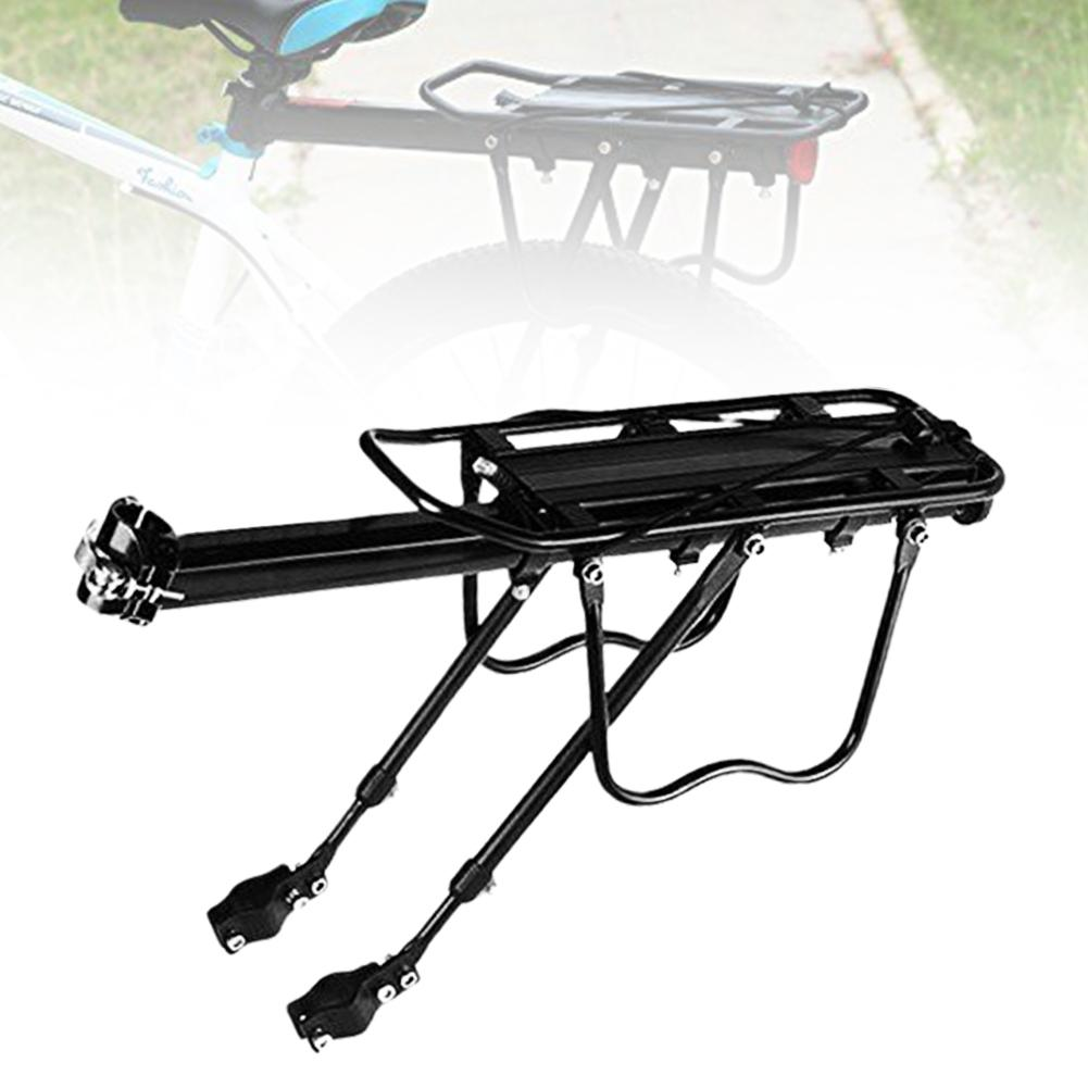 15KG Capaciblity Bike Rack Aluminum Alloy Bicycle Bike Cycling Rear Seat Rack Bag Bicycle Quick Release Luggage Carrier Pannier