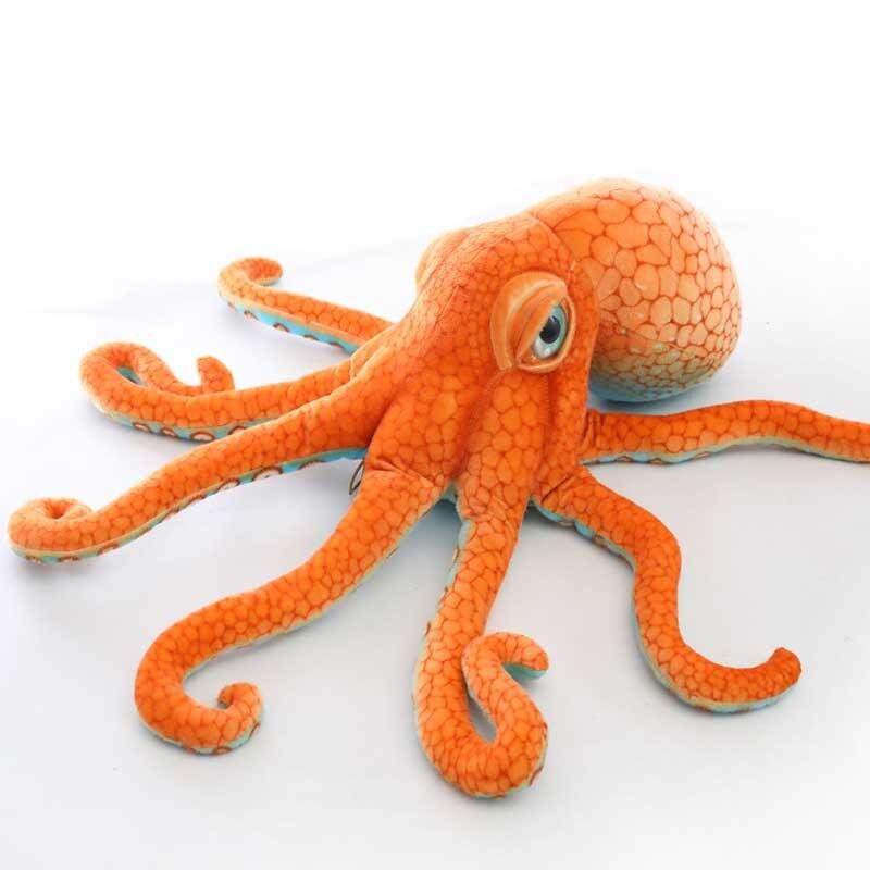 50 80cm de pelucia recheado enorme oito garra polvo boneca vida real profundo mar monstro octopus