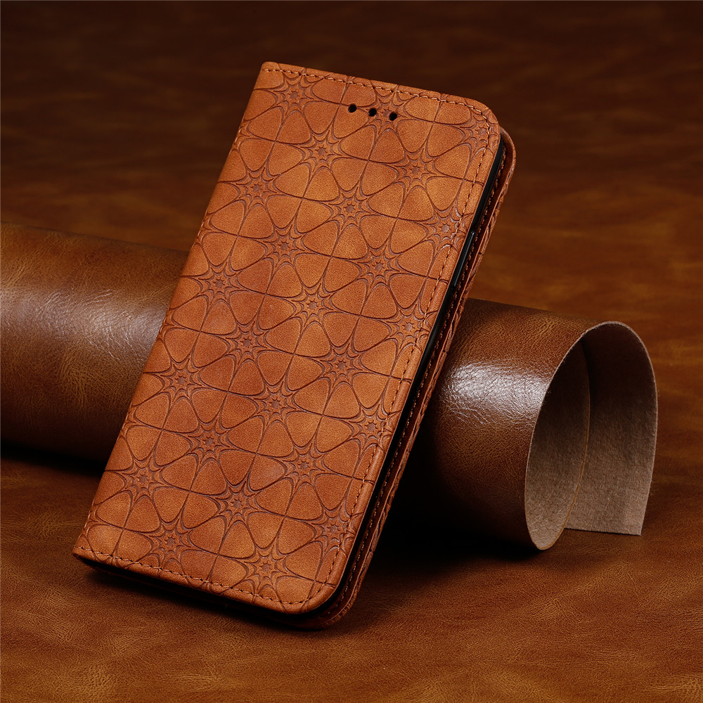 For <font><b>Samsung</b></font> Galaxy A51 A71 A50 A30S A20 <font><b>A30</b></font> A10 A81 A91 M10S M40S M60S M80S Leather Embossing Flower <font><b>Flip</b></font> <font><b>Case</b></font> Magnet Cover image